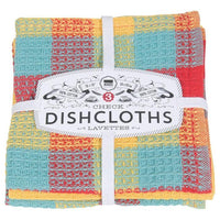 Now Designs, Lemon Check 100% Cotton Dishcloths (Set of 3)