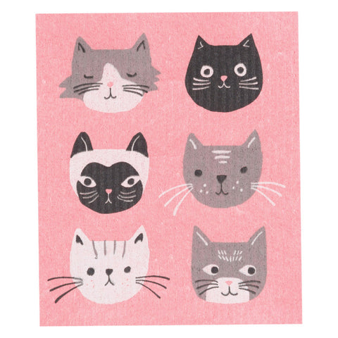 Now Designs, Swedish Reusable Sponge Cloth | Cats Meow (Qty 1)