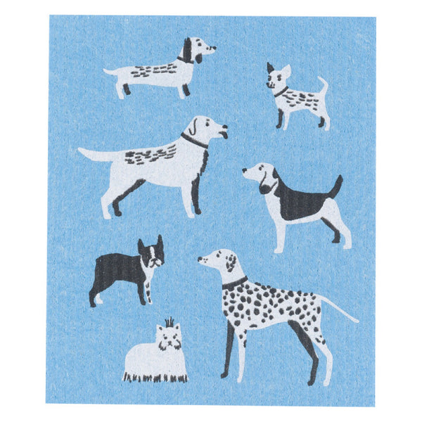 Now Designs, Swedish Reusable Sponge Cloth | Dog Days (Qty 1)