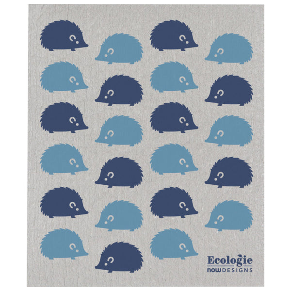 Now Designs, Swedish Reusable Sponge Cloth | Happy Hedgehog (Qty 1)