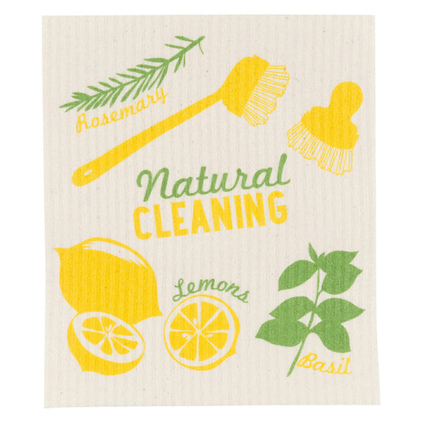 Now Designs, Swedish Reusable Sponge Cloth | Natural Cleaning (Qty 1)