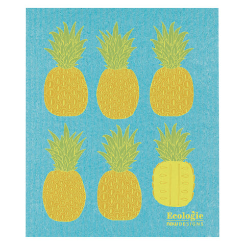 Now Designs, Swedish Reusable Sponge Cloth | Pineapples (Qty 1)