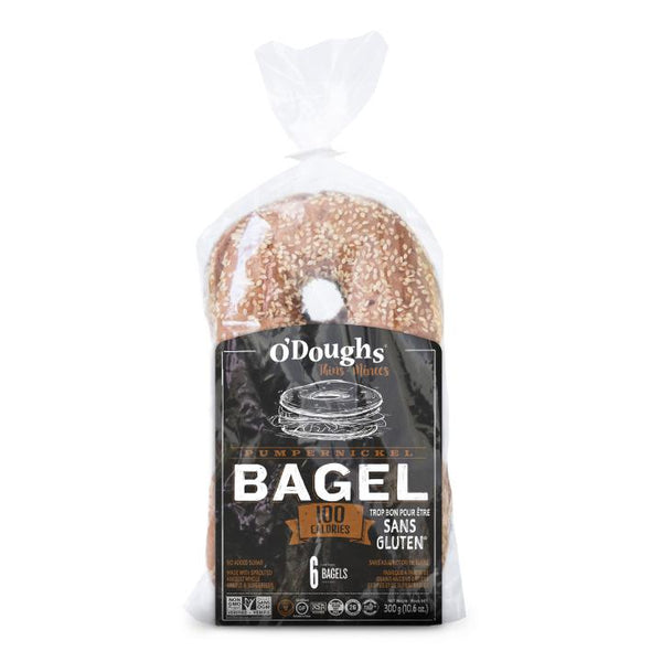 O'Dough's, GF Pumpernickel Bagel Thins (300g)