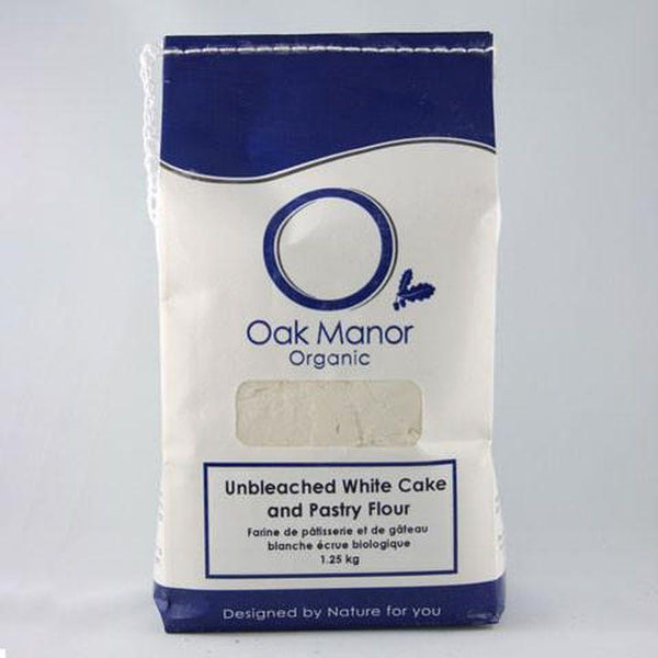 Oak Manor Farms, Organic Unbleached White Cake & Pastry Flour (1.25kg)