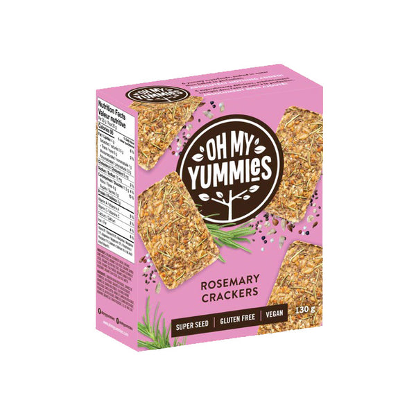 Oh My Yummies, Super Seed Rosemary Crackers (130g)