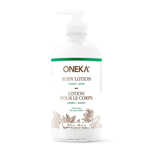 Oneka, Cedar + Sage Body Lotion (475mL)