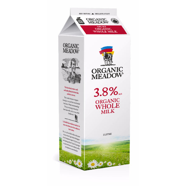 Organic Meadow, 3.8% Milk – Carton (1L)