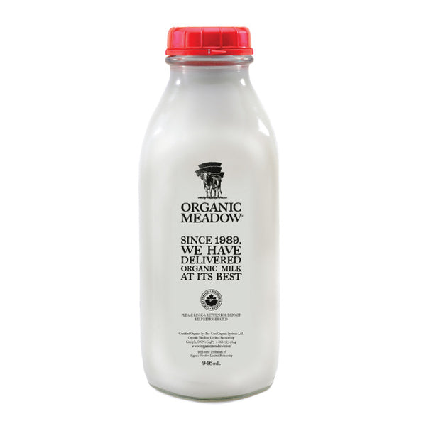 Organic Meadow, 3.8% Milk – Glass Bottle (948mL)