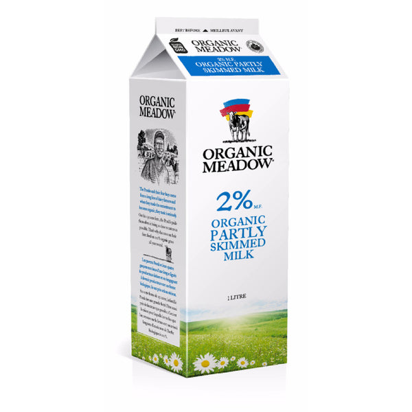 Organic Meadow, Partly Skimmed 2% Milk – Carton (1L)
