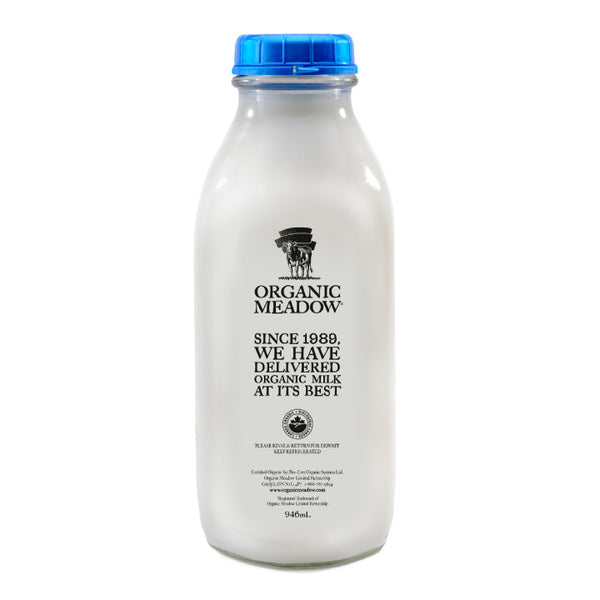 Organic Meadow, Partly Skimmed 2% Milk – Glass Bottle (948mL)