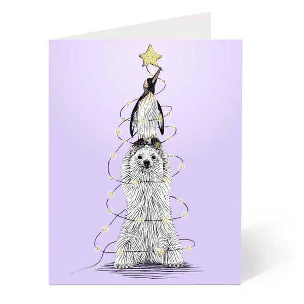Ostockley, Christmas Lights Greeting Card (Qty 1)