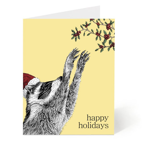Ostockley, Holiday Raccoon Greeting Card (Qty 1)