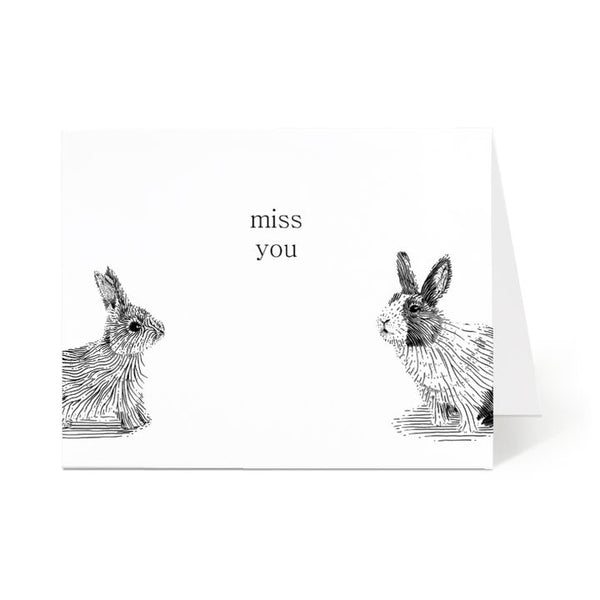 Ostockley, Miss You Greeting Card (Qty 1)