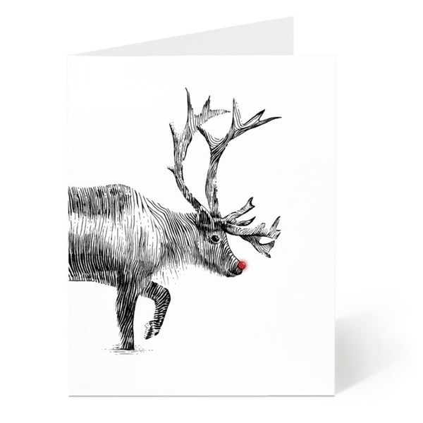 Ostockley, Rudolph Greeting Card (Qty 1)