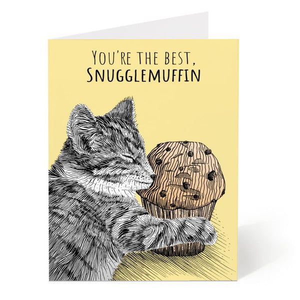 Ostockley, Snugglemuffin Greeting Card (Qty 1)