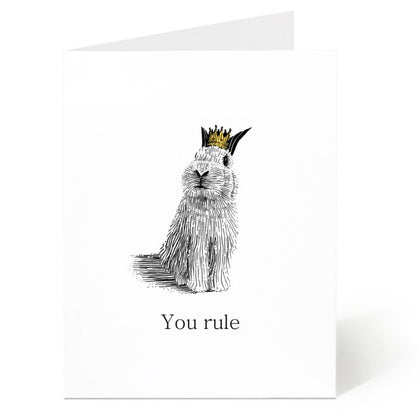 Ostockley, You Rule Greeting Card (Qty 1)