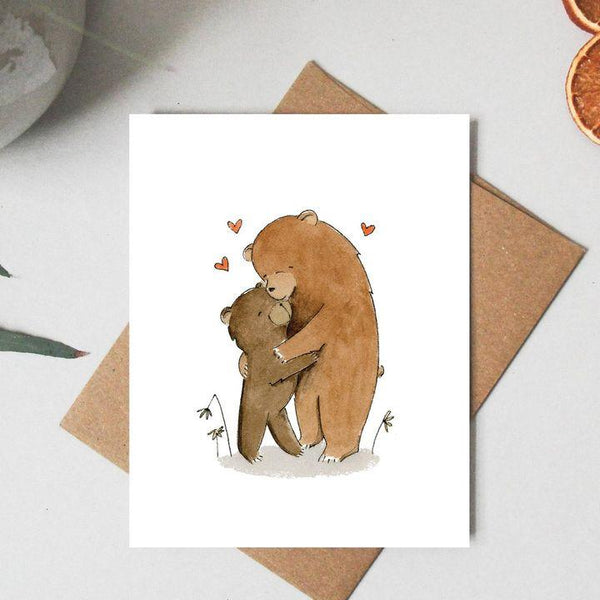 Paper Canoe, Bear Hug Greeting Card (Qty 1)