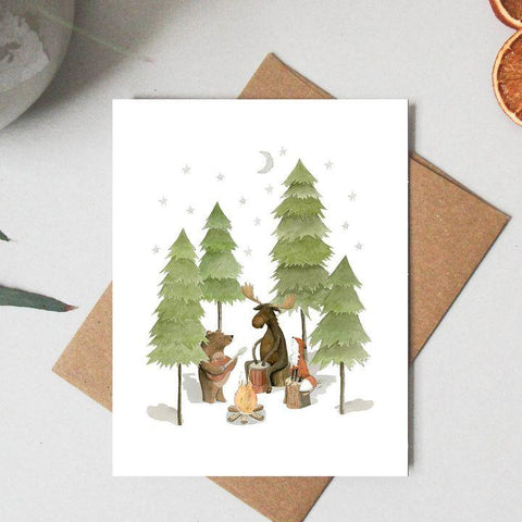 Paper Canoe, Camp Song Greeting Card (Qty 1)