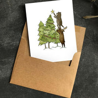 Paper Canoe, Crooked Christmas Greeting Card (Qty 1)