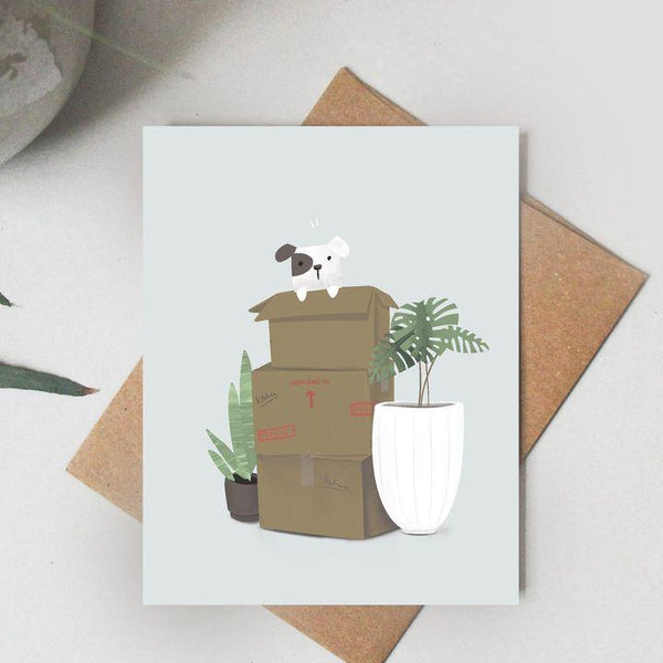 Paper Canoe, Moving Day Greeting Card (Qty 1)