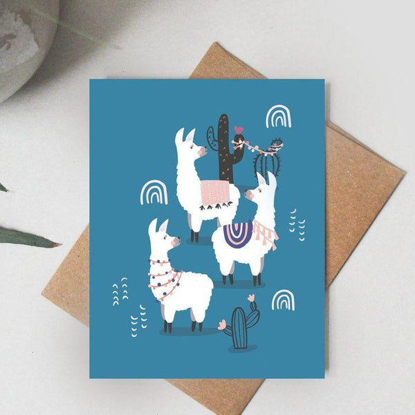 Paper Canoe, Party Like a Llama Greeting Card (Qty 1)