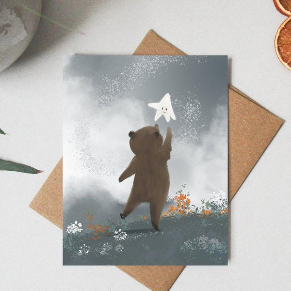 Paper Canoe, Reach Greeting Card (Qty 1)