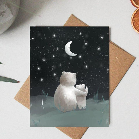 Paper Canoe, Star Gazing Greeting Card (Qty 1)