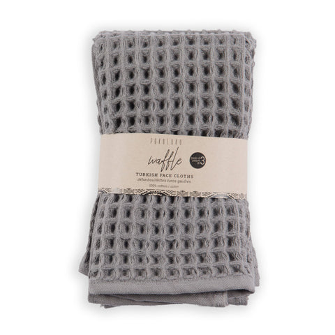 Pokoloko, Waffle Face Cloth | Dark Grey (3 Pk)