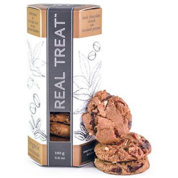 Real Treat, Dark Chocolate Chunk with Smoked Pecans Gourmet Cookies (123g)