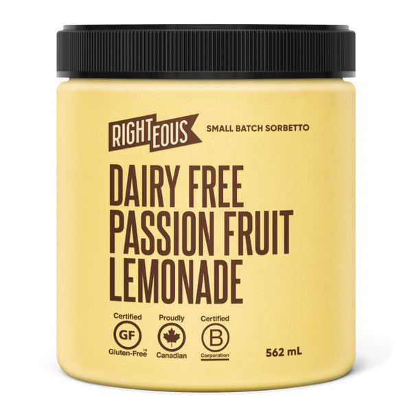 Righteous, Dairy-Free Passionfruit Lemonade Sorbetto (562mL)