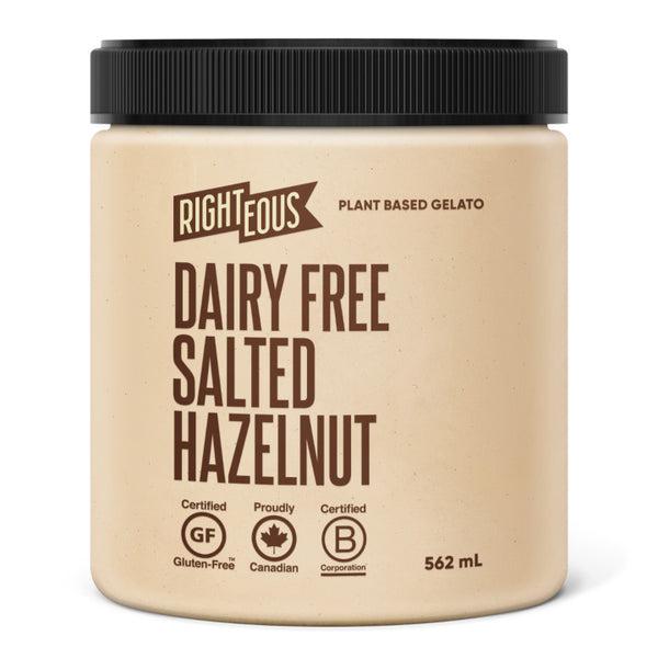 Righteous, Dairy Free Salted Hazelnut Gelato (562mL)