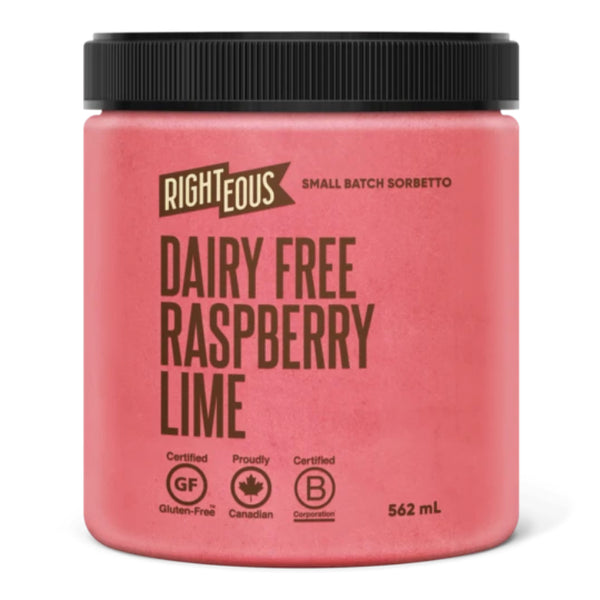 Righteous Gelato, Dairy-Free Raspberry Lime (562ml)