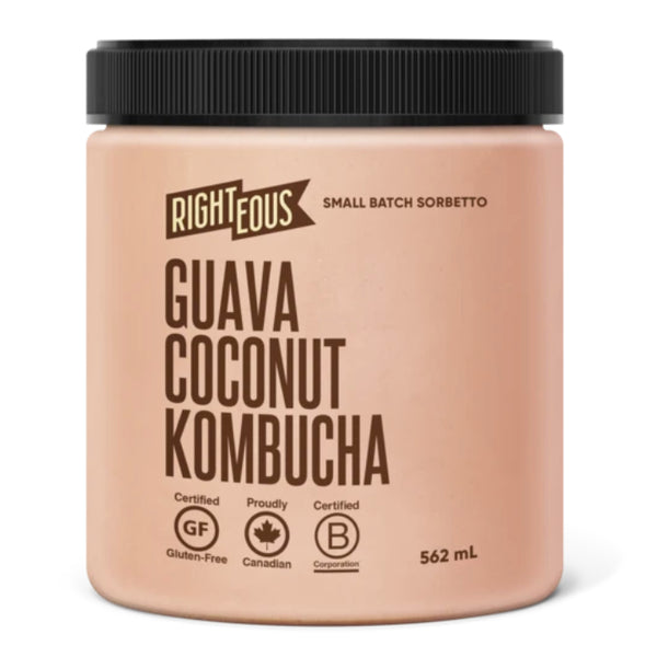 Righteous Gelato, Guava Coconut Kombucha Sorbetto (562ml)