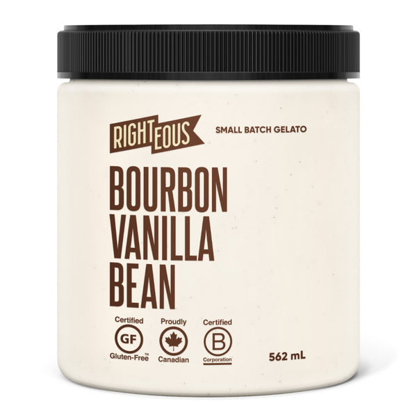 Righteous, Madagascar Bourbon Vanilla Bean Gelato (562mL)