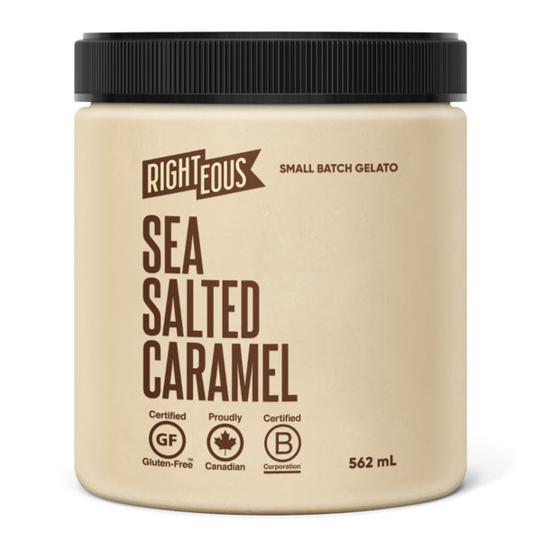 Righteous, Salted Caramel Gelato (562mL)