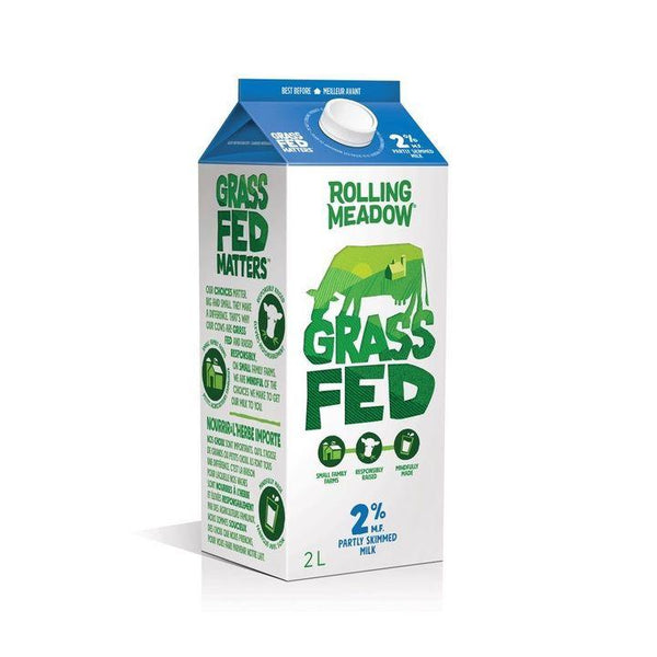 Rolling Meadow, 2% Grass Fed Milk Bag (2L Carton)