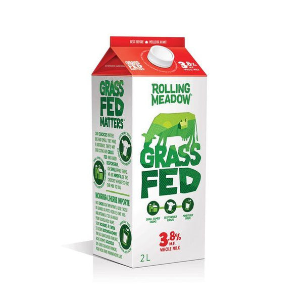 Rolling Meadow, 3.8% Grass Fed Milk Bag (2L Carton)