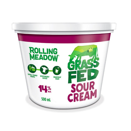 Rolling Meadow, Grass-Fed 14% Sour Cream (500g)