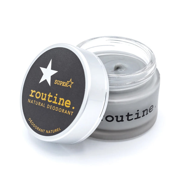 routine., Superstar Natural Deodorant (58g) | Activated Charcoal, Magnesium, Prebiotics