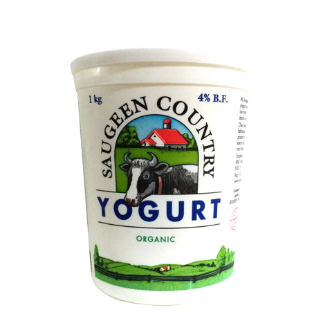 Saugeen Country, Organic Plain Yogurt - 4% MF (1kg)
