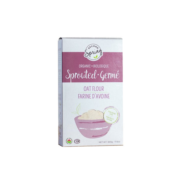 Second Spring, Organic Sprouted Oat Flour (500g)