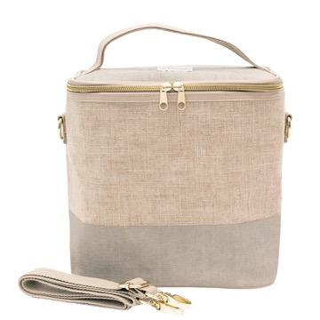 SoYoung, Linen - Cement Colour Lunch Poche / Bag