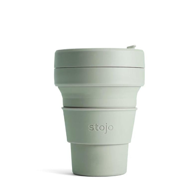 stojo, Collapsible Pocket Cup | Sage Green (12 oz)