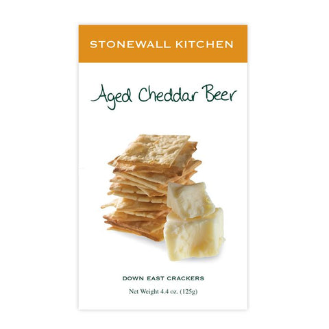 Stonewall Kitchen, Aged Cheddar Beer Crackers (125g)