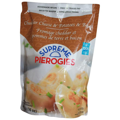 Supreme Pierogies, Cheddar Cheese, Potatoes & Bacon Pierogies (454g)