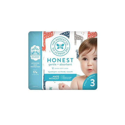 The Honest Co., Size 3 Diapers | Giraffes (27 Count)