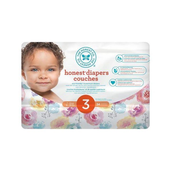 The Honest Co., Size 3 Diapers | Rose Blossom (34 Count)