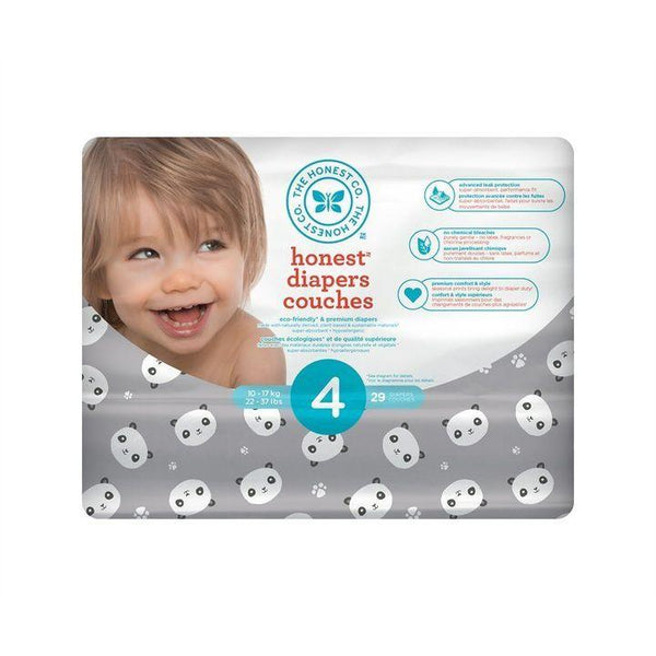 The Honest Co., Size 4 Diapers | Pandas (29 Count)