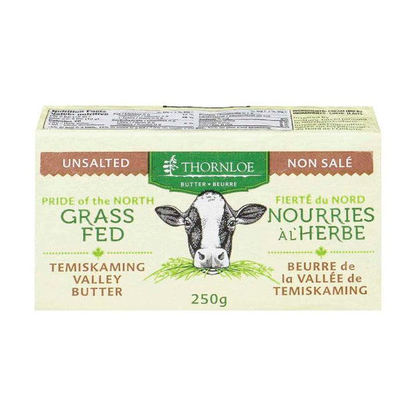 Thornloe, Grass Fed Unsalted Butter (250g)
