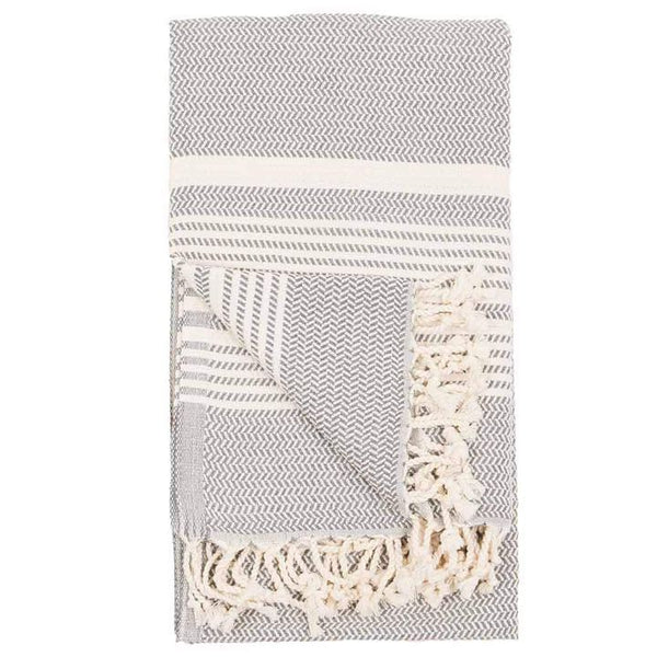 Pokoloko, Hasir Turkish Towel - Slate
